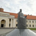 Lithuanian National Museum (New Arsenal) and a Monument to King Mindaugas