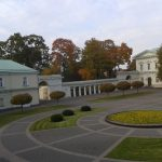 The Inner Courtyard of the Presidential Palace in Vilnius